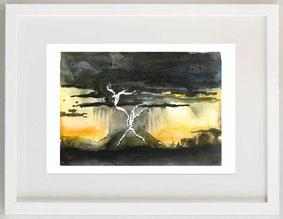 Lampi e tuoni, 2012, Acquerello, 23 x 16