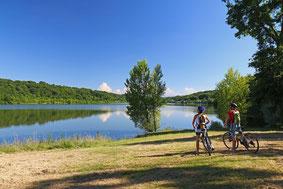 Hiking trail mountain bike pacheras Garlin lake (Vic-Bilh/Madiran)