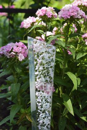 Glas-Stecker für den Blumentopf