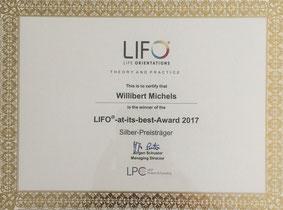 Award Urkunde