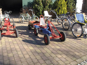 Unser Kettcar-Fuhrpark