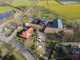 Luftaufnahme des Ferienhofes