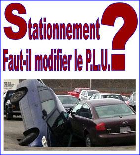 Stationnement modification du PLU