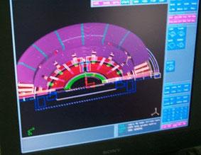 Reconstrucción Hipotética del Teatro Romano de Caesaraugusta, modelo 3D para elaborar una maqueta expositiva.