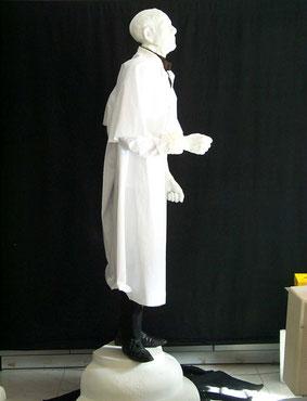 Escultura de los actores de la función, Teatro Español Madrid