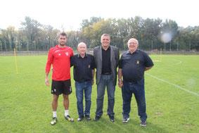 Jonathan Domergue, Etienne Rippert, Bruno Martini et Raymond Crespin (Caderousse 2015)