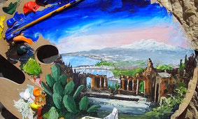 Paint and Wine in Taormina