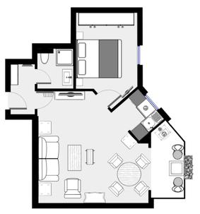 Grundriss der Ferienwohnung Kaminzeit