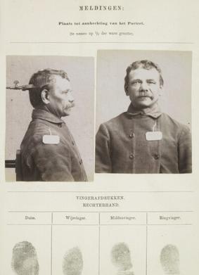 Signalementkaart Veenhuizen opname 16-05-1896