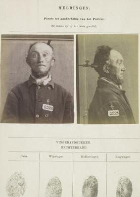 Signalementskaart Veenhuizen opname 07-05-1896