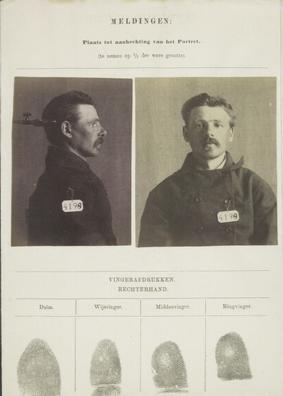 Signalementkaart Veenhuizen opname 29 April 1896