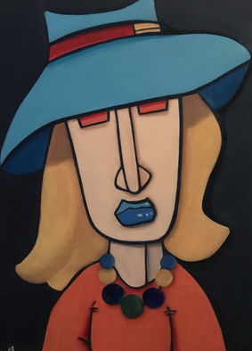 WOMAN WITH HAT II 50 x 70 Acryl
