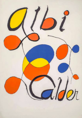 Alexandre Calder albi lithographie  sur vélin  91,5 x 65 cm en vente à la galerie agnes thiebault  VENDU