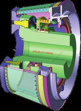 Joint sortie arbre turbine - ingénierie Solucad