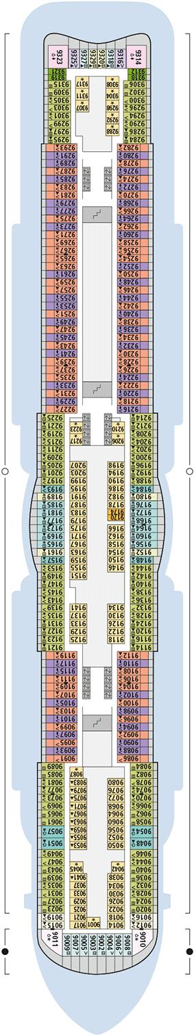 AIDAnova Deck 9 | © AIDA Cruises