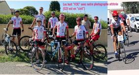 """Les """"V3C"""" à l'issue de la course: manquait Gilbert (à droite)"""