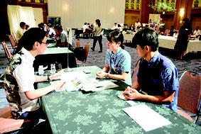 香港MICE関係団体による商談会が開かれた=20日午後、市内ホテル