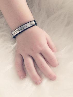 Bracelet enfant avec gravure personnalisée