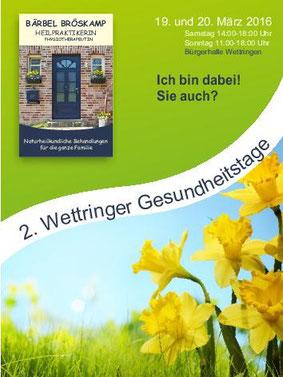 2. Wettringer Gesundheitstage -  Bärbel Bröskamp - Heilpraktikerin - Rheine