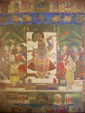 Krishna, representado como bailarín de Kathak