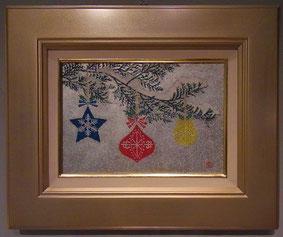 久富幸紀子 「Snow Hliday」 3号 日本画