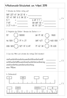Klasse mathematik 4. volksschule