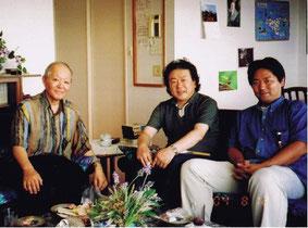 左から田村明、北沢猛氏、鈴木伸治氏