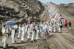 Der Weg in die Grube. Foto: Ende Gelände