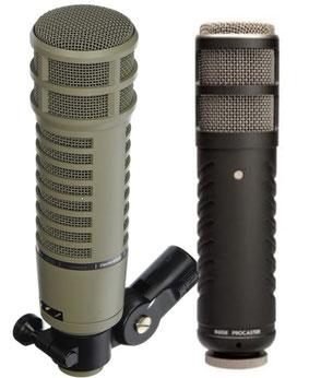Electro Voice e Rode Podcaster
