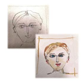 Selbstportrait Schülerin