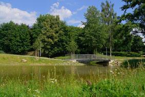 Brücke im Europapark Bayern-Böhmen