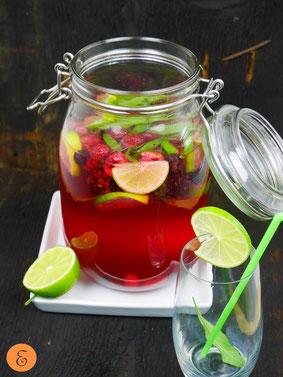 Aromawasser Beeren/Salbei/Limette