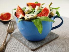 Rucolasalat mit Feige und Gorgonzola