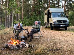 Lagerfeuer in Schweden