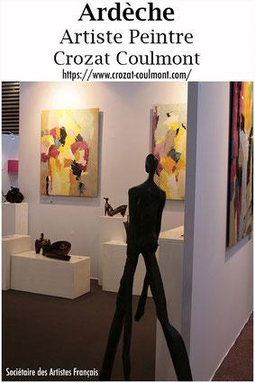 Abstraction Art- Le Peintre Français Crozat Coulmont (Peintre d'Ardèche)