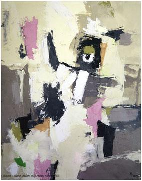 Artistes contemporains- Oeuvre contemporaine unique (Enduit de chaux/ bois)- France Peintre