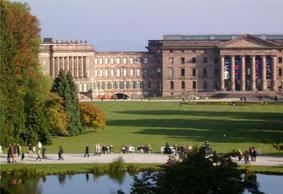 Blick auf das von Landgraf Wilhelm IX erbaute Schloss