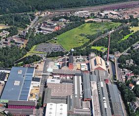 Ein strategisches Kernstück: Dem Erweiterungsgelände von Saint Gobain und dem Areal der Feuerfeste Peters nahe dem Hauptbahnhof wird Bedeutung sowohl für die Wirtschaftsförderung wie auch für die Verkehrserschließung beigemessen.