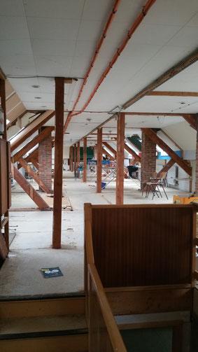 Damals befand sich das Internat  im Dachgeschoss des Schulgebäudes. Foto: Vincence Stenmans