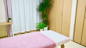 大分別府頭痛専門ここまろ調整院の頭痛専門整体施術室です。