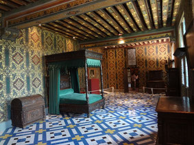 Chambre de Catherine de Médicis. Blois. Source Laure Trannoy.