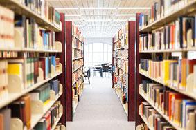 Blick in eine Bibliothek