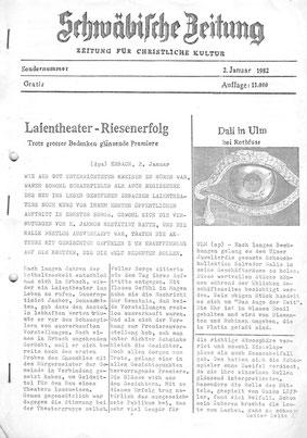 Theaterzeitung 1981/82