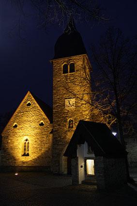 Die heutige Josefs-Kirche und das Lazarushäuschen in Kinderhaus