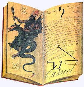"""Bücherankauf - Ein Bild aus Francis Barret's """"The Magus or Celestial Intelligencer"""". Das Werk erschien erstmals 1801."""