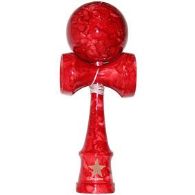 Full Marble Shiny Red Kendama フルマーブルけん玉(レッド/シャイニー)