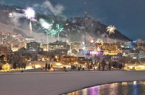 Silvesterfeier in St. Moritz