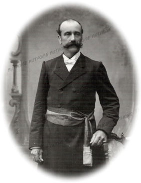 DEPREZ Albert V., photographié vers 1899-1902. Collection privée de l'auteur.