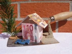 Originelles Geldgeschenk zum Basteln: Idee für Häuslebauer