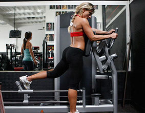 leg exercise machine kickback